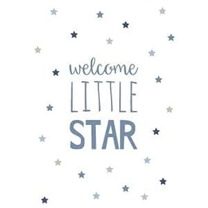 Little Dutch-Tarjeta-tarjeta Welcome Little Star (A6: 10.5x 14.8cm) (precio: 1,10€)