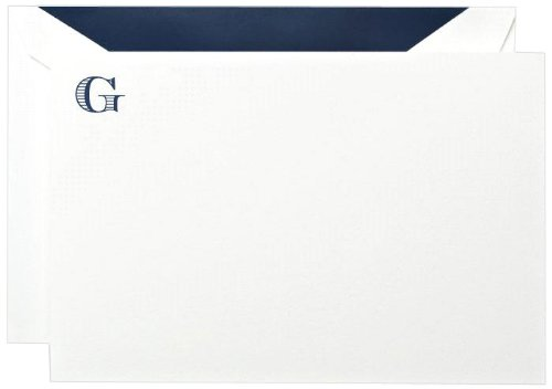 Crane & Co. Initial''G'' Correspondence Card (CC33G1)