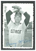 1969 Topps Deckle Edge (Baseball) card#8 Denny McLain of the Detroit Tigers Grade very good/excellent