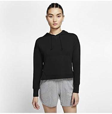 ウィメンズ ヨガ クロップ H ジャージ トレーニングシャツ (CQ8834) (010)ブラック S