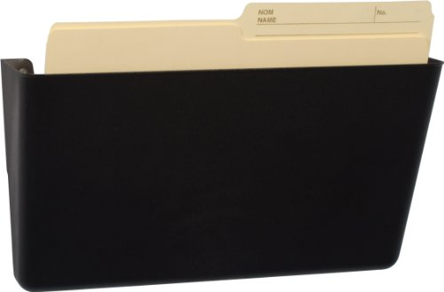 Storex Unbreakable Letter Sized Wall Pocket, 4.5 x 13 x 4.5 Inches, Black, Recycled Plastic, 70362U01C