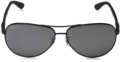 Ray FIBRE Gray Ban Black Polarized 002 K7 Glossy CARBON Frame Sonnenbrille 8313 RB Mirror Black Lenses t7rntW6