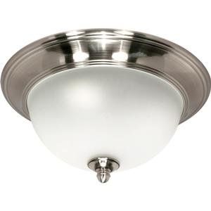 Nuvo 60/617 Small Smoked Nickel Flush Dome with Satin Frosted Glass