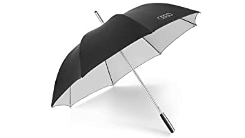 Audi Umbrella CM Black Silver Amazoncouk Car Motorbike - Audi umbrella