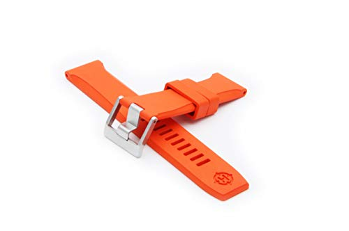 (HELM Watches RS1 Rubber Watch Strap - Orange (22mm))