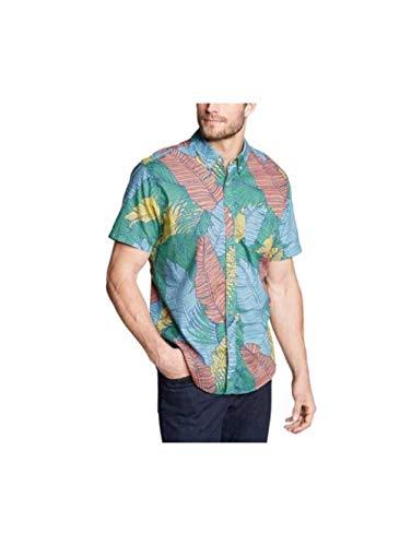 Eddie Bauer Men's Baja Short-Sleeve Shirt - Print, Lt Jade Regular ()