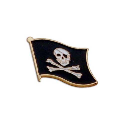US Flag Store Lapel Pin Pirate Flag