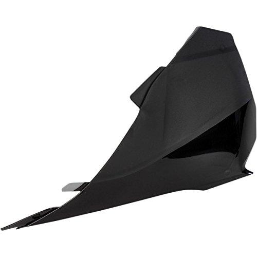 UFO Plastics Air Box Cover - Black - Left Side , Color: Black KT04043-001: