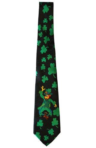 Leprechaun Tie - Necktie - Ireland Leprechaun (Black)