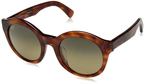 Maui Jim Jasmine HS738-10K | Polarized Koa Tortoise Fashion Frame Sunglasses, HCL Bronze Lenses, with with Patented PolarizedPlus2 Lens Technology