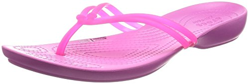 pink party Rose vibrant Tongs Femme pink Isabella Crocs YFq0twBw