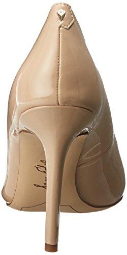 Hazel Para Sam Tacón Mujer Nude Cerrada Punta De Lino Charol Zapatos Con Edelman 6T5rwT8q