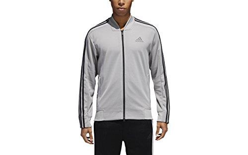 adidas Men's Track Tennis Jacket Squad ID Track Grey (Large, Grey)