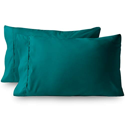 - Bare Home Premium 1800 Ultra-Soft Microfiber Pillowcase Set - Double Brushed - Hypoallergenic - Wrinkle Resistant (Standard Pillowcase Set of 2, Emerald)