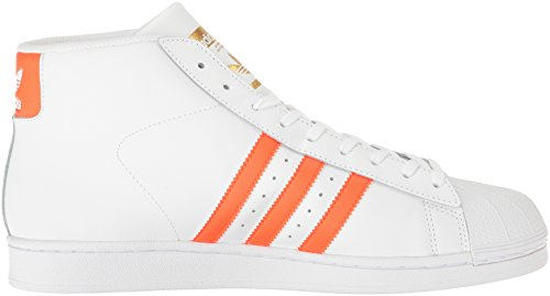 adidas Promodel, Zapatillas Altas para Hombre White/Energy Orange Metallic/Gold