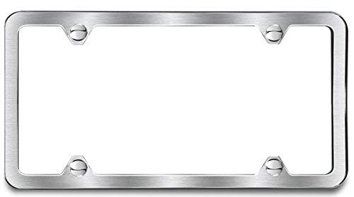 AutoStuff - Camisasca Brushed Finish License Plate Frame 4 Hole
