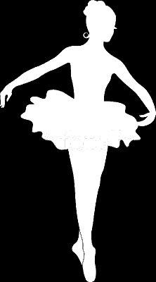 Ballerina Ballet Dancer Decal Vinyl Sticker Cars Trucks Vans Walls Laptop  WHITE  5.5 x 3 - Burch Similar Tory To