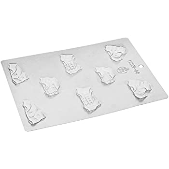 Paderno World Cuisine 8 Imprint Polypropylene 2.25 Inch Car Chocolate Mold
