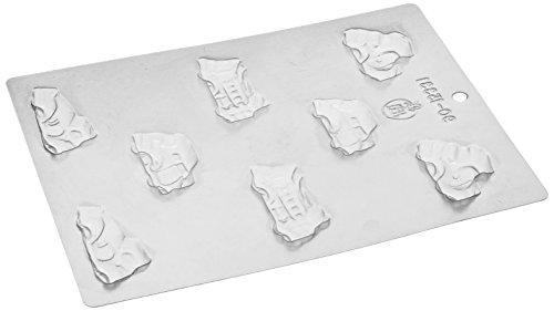 Paderno World Cuisine 8 Imprint Polypropylene 2.25 Inch Car Chocolate Mold ()