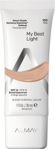 Almay Smart Shade Skintone Matching Makeup, Hypoallergenic, Cruelty Free, Oil Free, Fragrance Free, Dermatologist Tested Foundation with SPF 15, My Best Light, ()