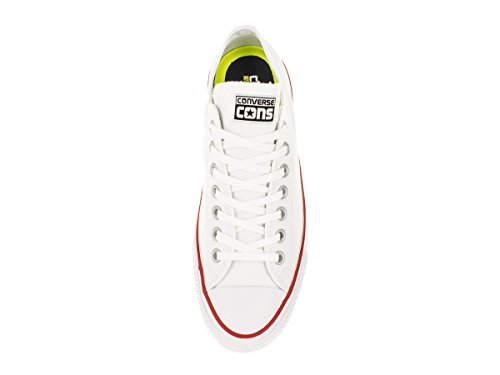 Converse Unisex Chuck Taylor All-Star- Pro-Ox-Skate-Schuh Weiß / Rot / Na