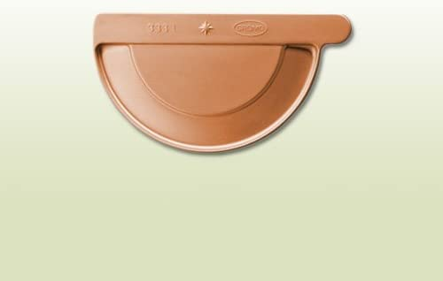 Kupfer L/ötrinnenboden halbrund RG 280 mm links