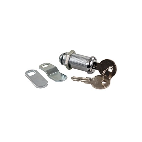 Compartment Lock - JR Products 00335 Standard Compartment Door Key Lock - 1-3/8