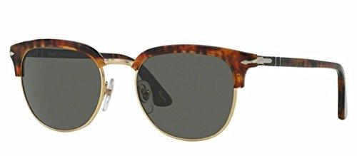 Persol PO3105S 108/58 Havana PO3105S Clubmaster Sunglasses Polarised Lens - Persol Po3105s