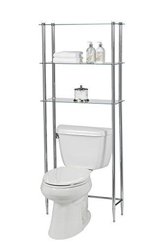 Creative Bath Products L'etagere Classic and Transitional Series 3 Shelf Space Saver, Chrome (64 Transitional Bath)