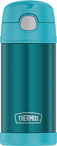 Thermos F4016TL6 12 Ounce Stainless Steel FUNtainer Bottle, Teal