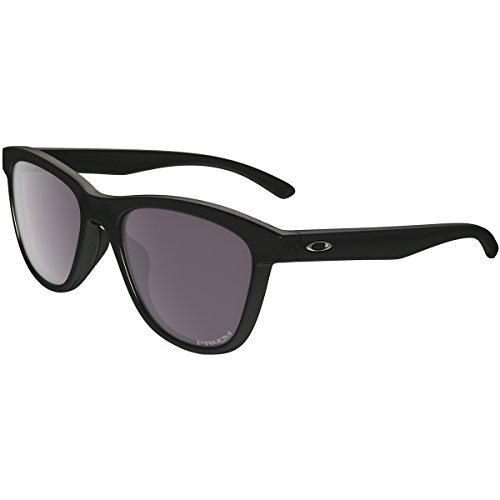 Oakley Women's Moonlighter Polarized Round Sunglasses, Polished Black, 53 - Oakley Retro