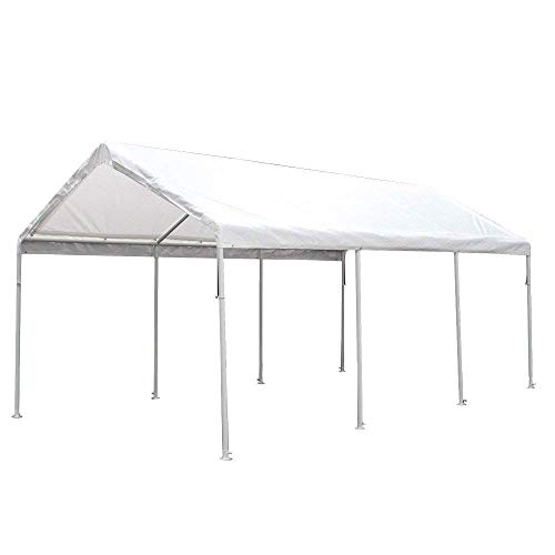 King Canopy HC1020PC 10-Feet by 20-Feet Hercules 8-Leg Canopy, White