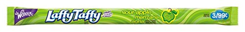 Wonka Laffy Taffy Rope Sour Apple (Box of 24 (Taffy Green)