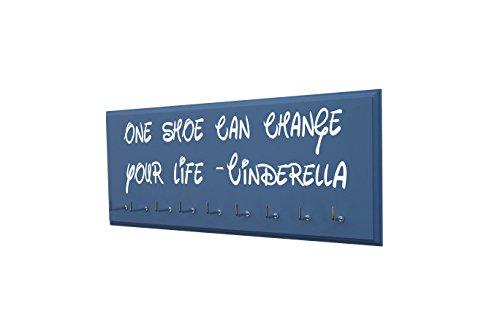 (Race bib Medal Display - ONE Shoe CAN Change Your Life - Cinderella - Run Disney Inspired Medal Hanger - Running Medal Display Rack Hooks Women - 5K, 10K, Half Marathon Running Accessory)
