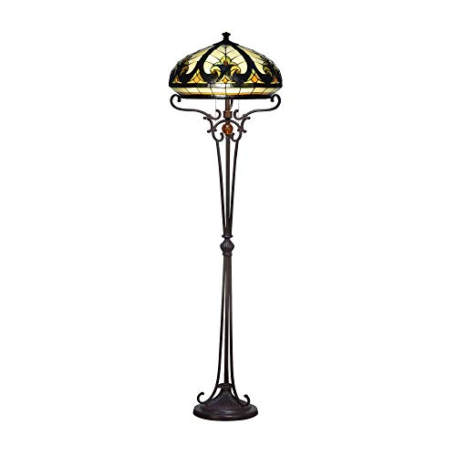 Springdale STF18029 Katana Baroque Floor/Torchiere Lamp Antique Bronze