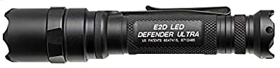 SureFire E2D Defender E2D Defender Ultra Dual-Output LED Flashlight with Tailcap Click Switch, Black, Black