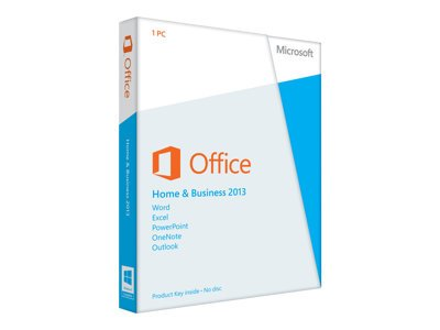 Microsoft Office Home and Business 2013 - License - 1 PC - Win - English - 32/64-bit, medialess *