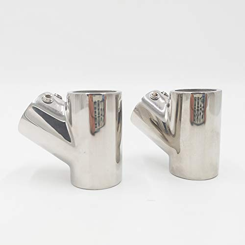 man Handrail Fitting 60° Tee Right Side 7/8 Stainless Steel Boat Marine Solid (2) (60 Rail)