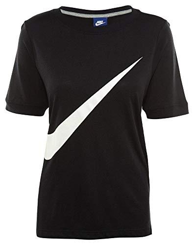Para black Mujer Camiseta White Negro 831107 Nike 697 xqHgwvga