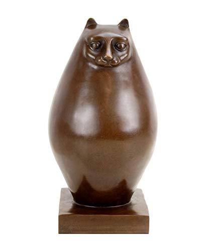 Kunst & Ambiente Modern Art Bronze- Fat cat - signed Botero