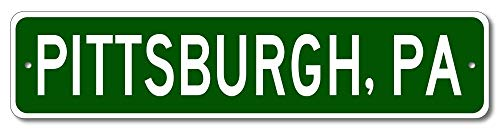Pittsburgh, Pennsylvania - USA City and State Street Sign - Aluminum 4