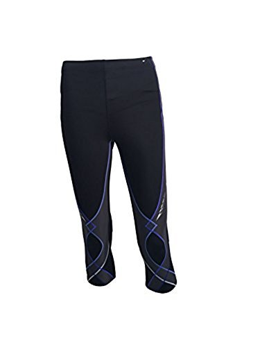 CW-X Women's 3/4 Stabilyx Tights - Black_Blue Gradation; Size: Large - Gradation Blue
