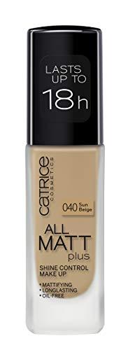 Catrice   Full Coverage Foundation Makeup - All Matt Plus Shine Control   Vegan & Paraben free   040 Sun Beige