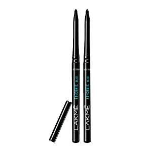 Lakmé Eyeconic Kajal Twin Pack, Smudge Proof, Water Proof, Lasts Upto 22 Hours, 0.35 g + 0.35 g}