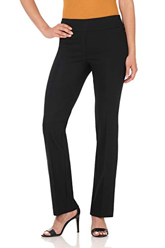 Rekucci Women's Ease in to Comfort Boot Cut Pant (10,Black Diamond) ()
