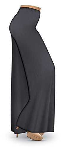 Charcoal Slinky Wide Leg Plus Size Supersize Palazzo Pants 1xT