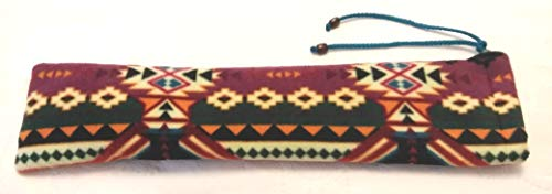 Native American Flute Bag - Aztec Heavy Fleece - handmade - Double Lined