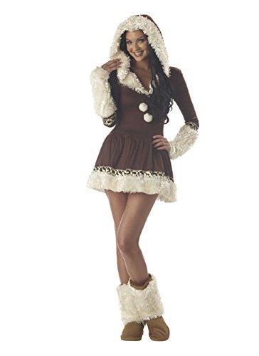 [Mememall Fashion Sexy Indian Princess Eskimo Kisses Adult Costume] (Eskimo Hat Costume)