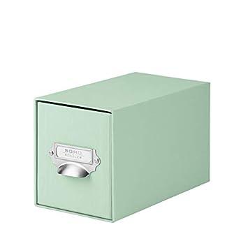Rössler SOHO 1327452650 Papel CD de cajones caja con mango, Mint, 1 unidad