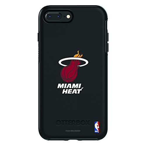 (Fan Brander NBA Phone case Compatible with Apple iPhone 8 Plus and Apple iPhone 7 Plus and OtterBox Symmetry Series (Miami Heat))